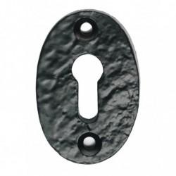 Black Antique Oval Escutcheon