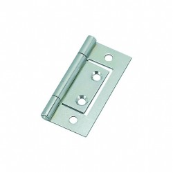 50mm Flush Hinges - Zinc...
